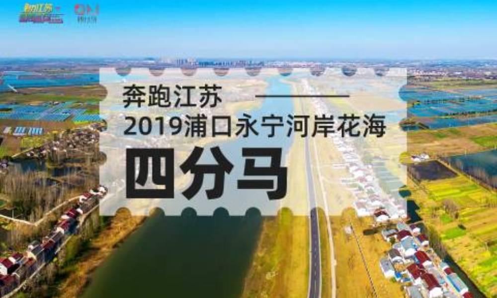 奔跑江苏·2019浦口永宁河岸花海四分马